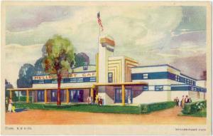 Muller-Pabst Cafe, 1933 Century of Progress, Chicago, Illinois, IL, White Border
