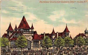 Feltman's Deutscher Garden Coney Island, NY, USA Amusement Park 1911