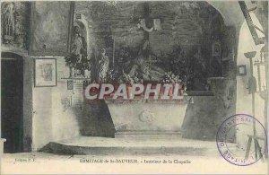 Postcard Old Hermitage of St Sauveur Chapel Interior
