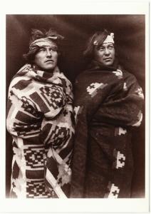 Navajo Brothers in 1915 Native American Modern Postcard
