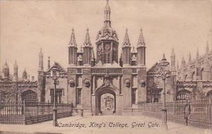England Cambridge King's College The Great Gate