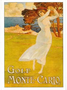 Post Card  GOLF SERIES (B) Advertising with a Golf theme GOLF - MONTE-CARLO ROGS