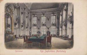 Jagdschloss Moritzburg German Deer Hunting Room Old Postcard