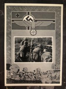 Mint Germany Patriotic RPPC Postcard Wehrmacht defence force Army