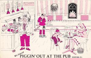 Piggin' Out At The Brick Alley Pub and Restaurant Newport Rhode Island