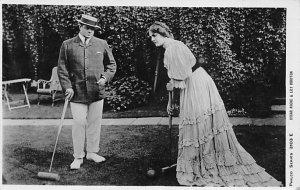 Croquet Mr. Oscar Asche & Miss Lily Brayton Postcard Mr. Asche & Miss Brayton...