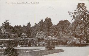 Grand Rapids Michigan~Antonine Campan Park~Path Around Pond~1908 Postcard
