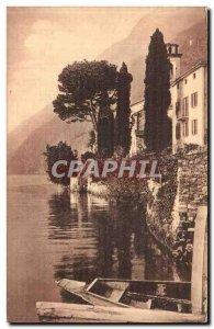 Old Postcard Lago di Lugano Oria Villa Fogazzaro