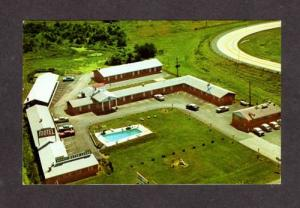OH Warren Motor Lodge Motel NEWTON FALLS OHIO POSTCARD