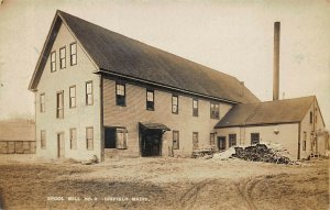 Dixfield ME Spool Mill Number 2 1908 Real Photo Postcard