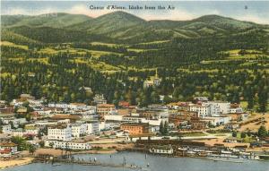 ID, Coeur D'alene, Idaho, Air View, Tichnor No. 78390