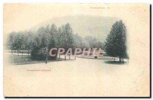Old postcard Besancon Promenade Chamar