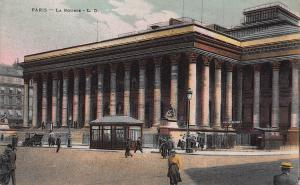 The Bourse, Paris, France, early postcard, unused