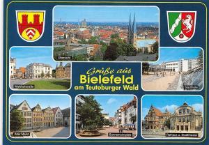 Bielefeld, Brunnenmannplatz Rathaus u. Stadttheater Stadthalle Waldhofstrasse