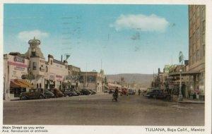 TIJUANA , Mexico, 1940-50s ; Main Street