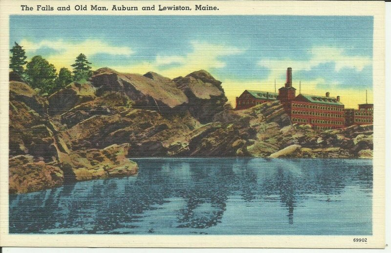 The Falls And Old Man, Auburn And Lewiston, Maine
