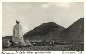 ecuador, C.A., Monumento de la Linea Equinoccial (1940s) RPPC
