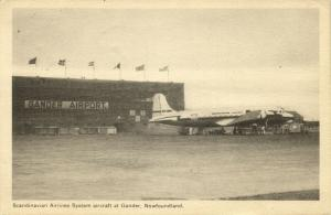 canada, GANDER, Newfoundland, Scandinavian Airlines System Aircraft Airport 1951