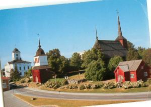 Suomi Finland Churches Kristinestad uirika Tullstugan Radhuset  Postcard  # 7012