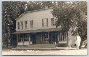 Dana Illinois~Pritchett's Drug Store?~c1910 RPPC~Real Photo Postcard~CU Williams