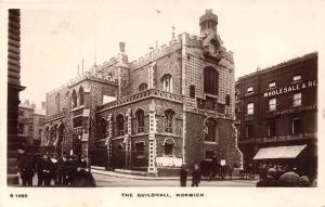 Norwich The Guildhall, Real Photo 1910