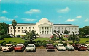 Tallahassee FL~Supreme Court Building~Nice 1960s Cars in Parking Lot~Postcard