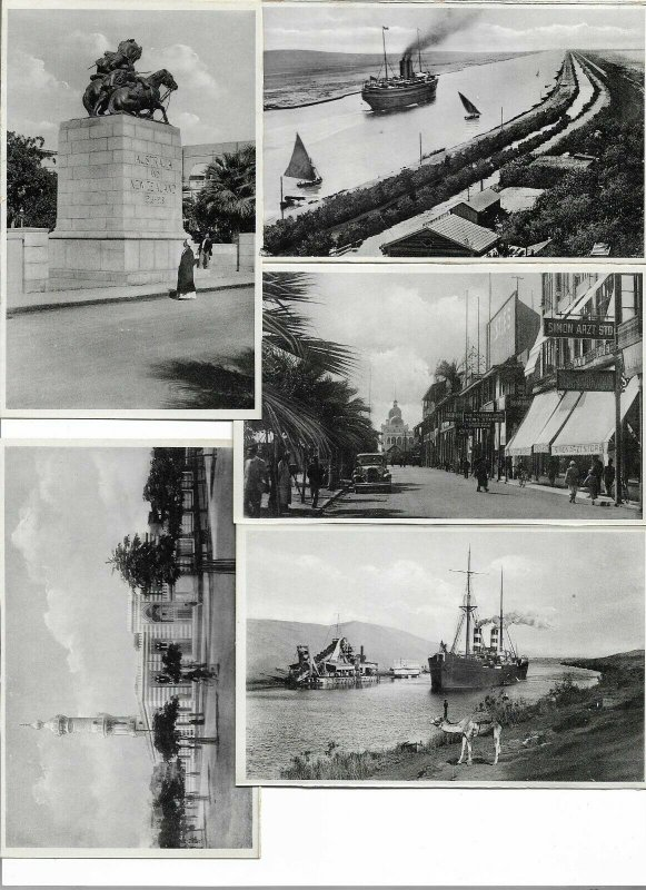 Egypt - Suez Canal Port Said Postcard Lot of 18 Postcard Lot of 18 01.05
