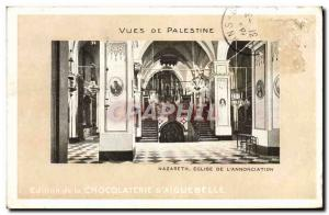 Postcard Old Nazareth Church Of L & # 39Annonciation Palestine Views