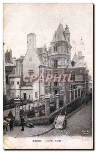 Old Postcard Angers Hotel Pince