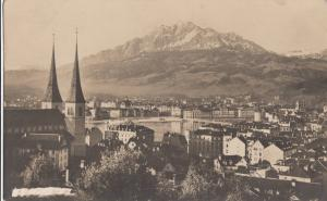 Switzerland, Suisse, Lucerne, 1922 used real photo Postcard