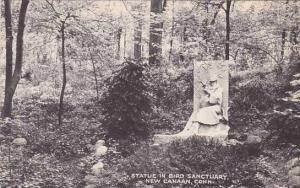 Connecticut New Canaan Statue In Bird Sanctuary
