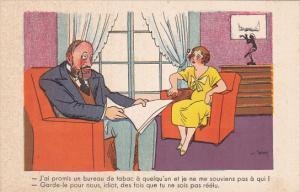 Political Comic postcard , France ,  10-30s # 10