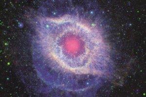 The Stellar Core of Helix Nebula Nasa Spitzer Space Telescope Postcard