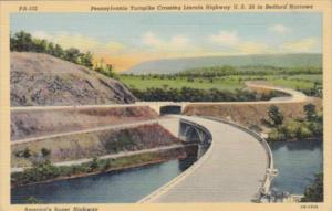 Pennsylvania Turnpike Crossing Lincoln Highway U S 30 In Bedford Narrows 1942...