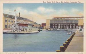 Florida Pensacola Boat Basin U S Naval Air Station 1941 Curteich