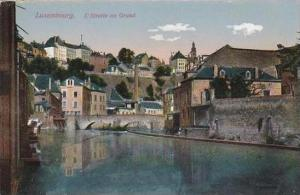 Luxemburg L'Alzette au Grund