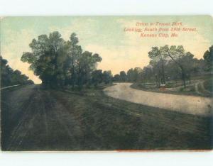 Divided-Back TROOST PARK Kansas City Missouri MO c9329