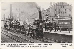 Stockton and Darlington Centenary 1925 Station Train Postcard