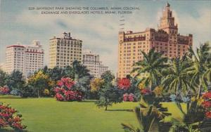 Florida Miami Bayfront Park Showing The Columbus Miami Colonial Exchange And ...