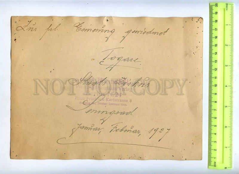 230378 RUSSIA Circus tamer tiger Togare autograph 1927 y photo