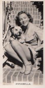 Annabella Hollywood Actress Rare Real Photo Cigarette Card