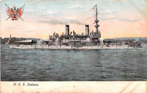 Military Battleship Postcard, Old Vintage Antique Military Ship Post Card U.S...