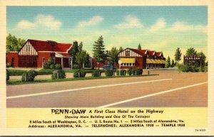 Virginia Alexandria Penn-Daw Hotel Curteich