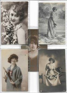 Beautiful Woman RPPC Postcard Lot of 10 01.10