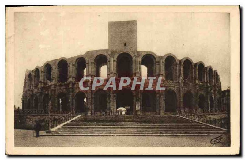 Postcard Ancient Arles Arenes Grand Staircase