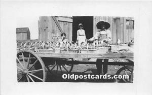 Real Photo Occupation and People Working Grape Harvest Unused