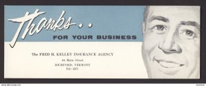 RICHFORD VERMONT USA - Fred H. Kelley Insurance Agency - Appreciation BLOTTER