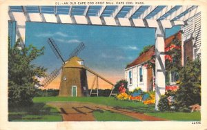 An Old Cape Cod Grist Mill Massachusetts Postcard