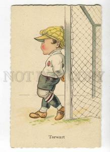 264674 FOOTBALL goalkeeper SOCCER Vintage COMIC postcard