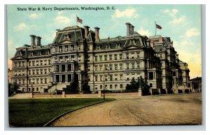 Vintage 1910's Postcard Panoramic View State War & Navy Building Washington DC